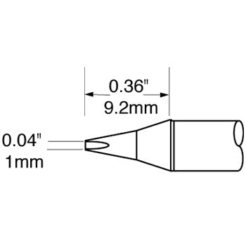 "Metcal SCV-CH10 Chisel Solder Tip 1.0mm (.04"") for Metcal MFR Units and PS-900 Stations"