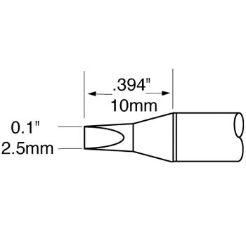 "Metcal SCV-CH25 Chisel Solder Tip 2.5mm (.10"") for Metcal MFR Units and PS-900 Stations"