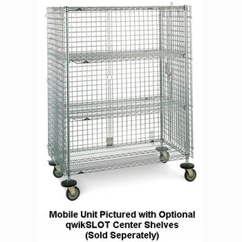 "Metro SEC56ECQ qwikSLOT™ Mobile Security Cabinet with Casters,  65"" x 27-1/4"" x 68-1/2"""