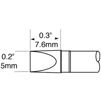 "Metcal SFP-CH50 Chisel Cartridge 5.0mm (.20"") for MFR Systems"