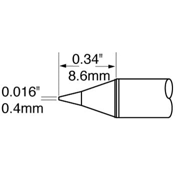"Metcal SFP-CN04 Conical Cartridge 0.4mm (.016"") for MFR Systems"