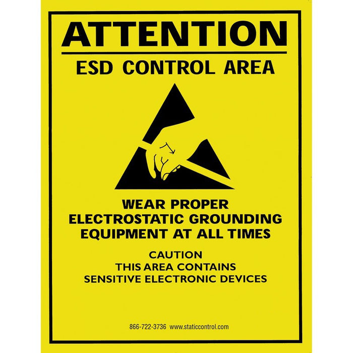 "SCS SIGN17X22E ESD Safe Area Warning Poster, 17"" x 22"""
