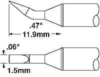"Metcal STTC-899 Chisel Bent Tip 3/64"" for MX Series Systems"
