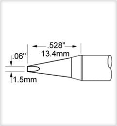 Metcal SCV-CH15AR Chisel Soldering Tip for PS and MFR Irons