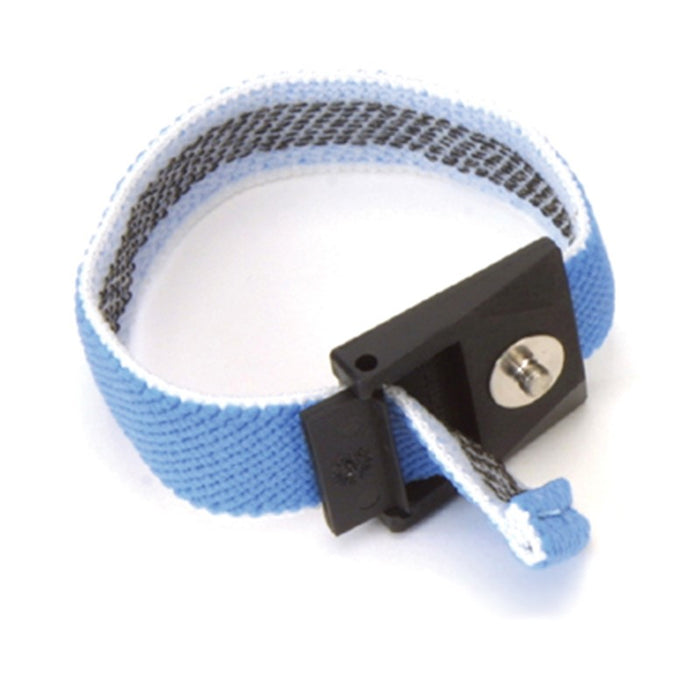 SCS WBB-AFWS Adjustable Fabric Wrist Strap with 4mm Snap, Blue/White