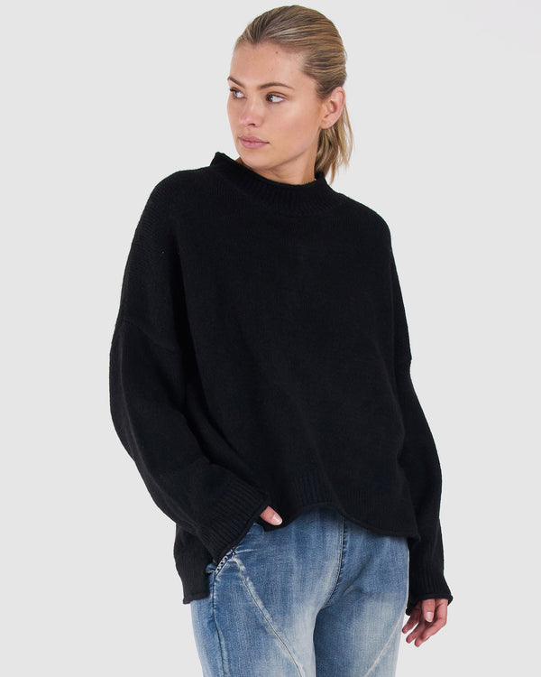 Jemima Knit - Black || By Betty Basics