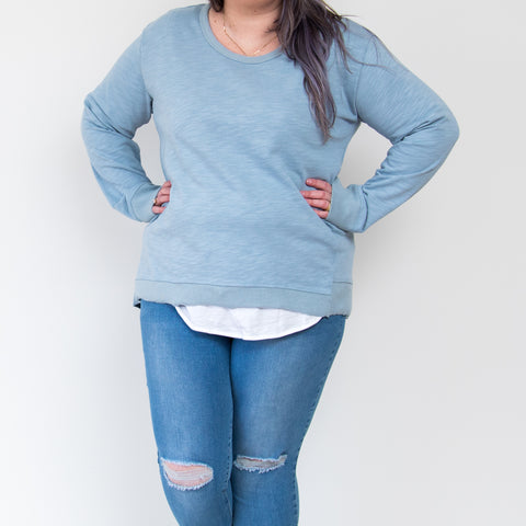 Newhaven Sweater - DuckEgg Blue || 3rdStory CURVE