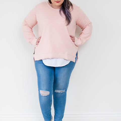 Ulverstone Sweater - Blush || 3rdStory CURVE