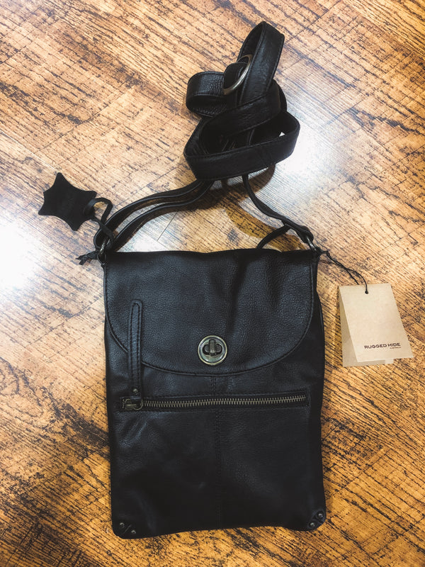 Tayla Bag - Black || Rugged Hide