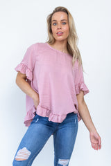 Andrea Top - Rose Gingham