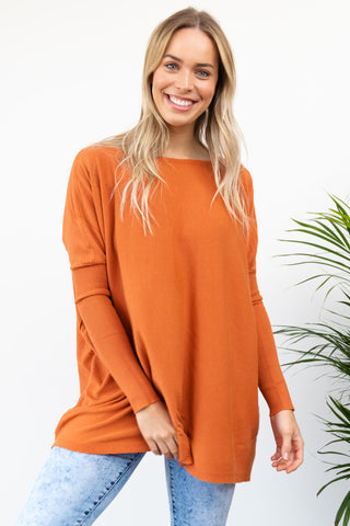 Aster Knit - Burnt Orange