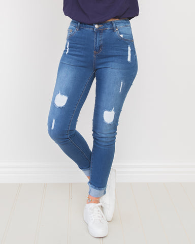 Gracen Distressed Jeans