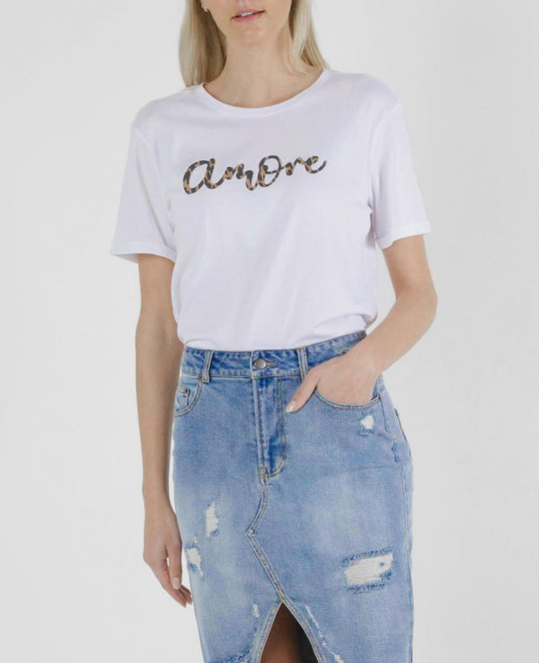 Camille Amore Top - White