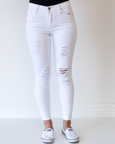Carson Ripped Jeans - White