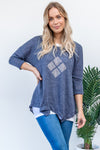 Tova Top Diamond - Blue