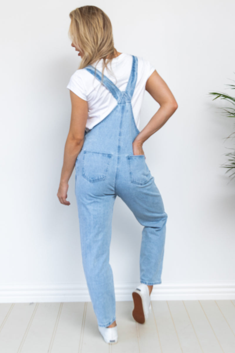 Evie Denim Dungaree - Light Wash
