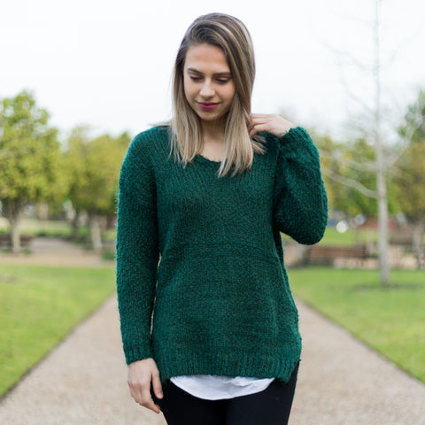 Fluffy Knit - Emerald