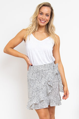 Twirl Skirt White+Black