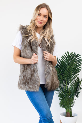 Gurli Fur Vest || By Sass || - Multi