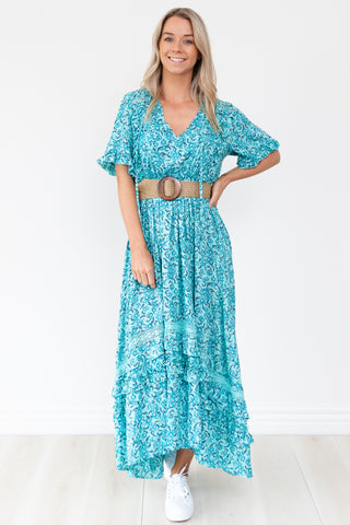 Halina Maxi Dress - Blue