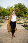 Hazel knit cardigan - rust