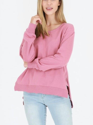 Ulverstone Sweater - Tango Pink || 3rdStory