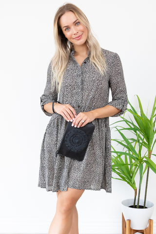 Jocey Shirt Dress || By Sass || - B&W Animal Print