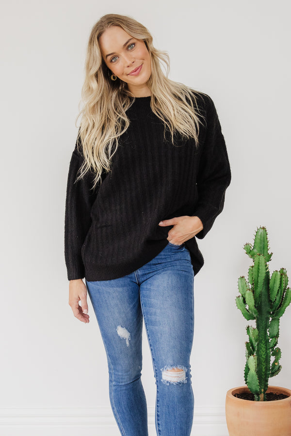 Kayla Knit Jumper - Black | BY Betty Basics {Online Exclusive}