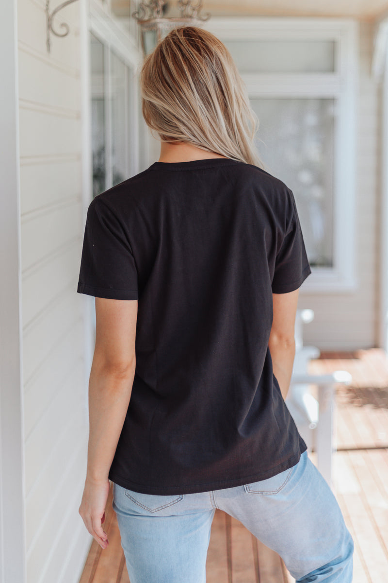 Textured Lip Tee - Black