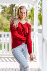 Lissa Knit -Burnt Orange