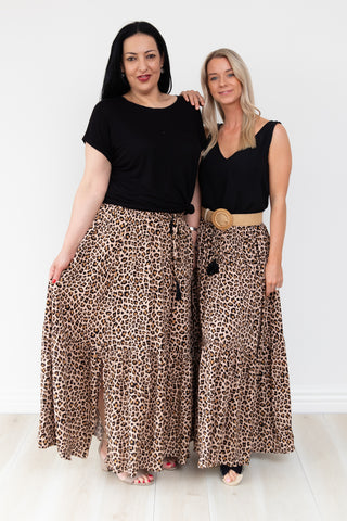 Lori Animal Print Maxi Skirt