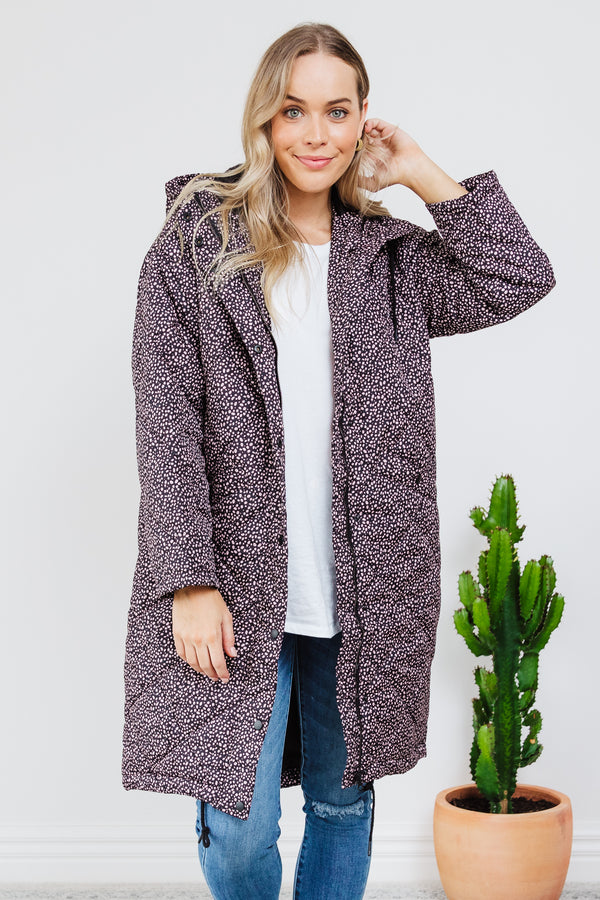 Madison Puffer Jacket - Pink Dot || By SASS {Online Exclusive}