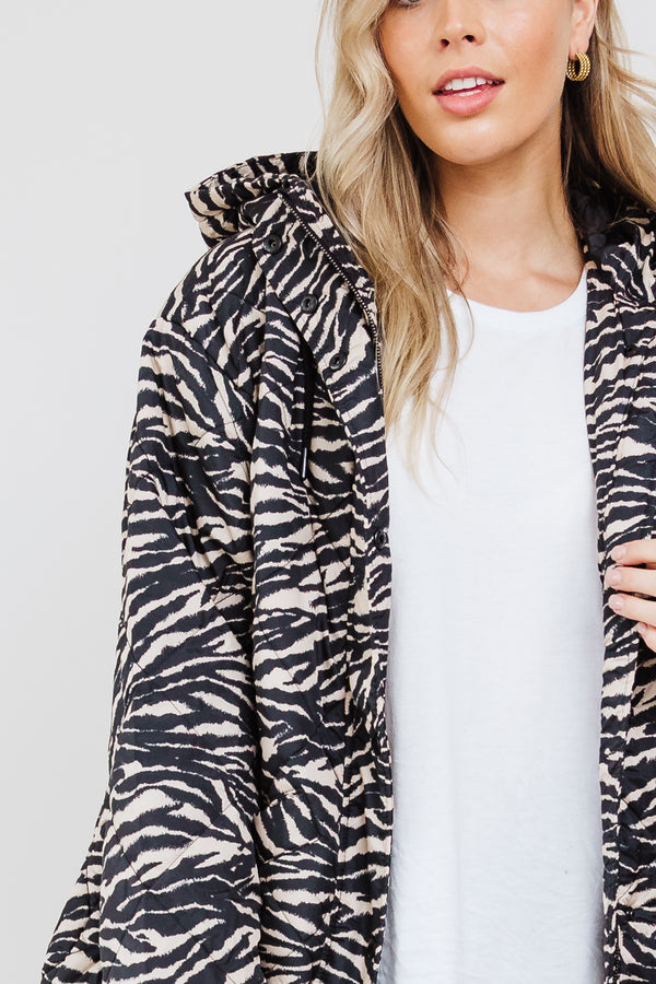Madison Puffer Jacket - Zebra || By SASS {Online Exclusive}