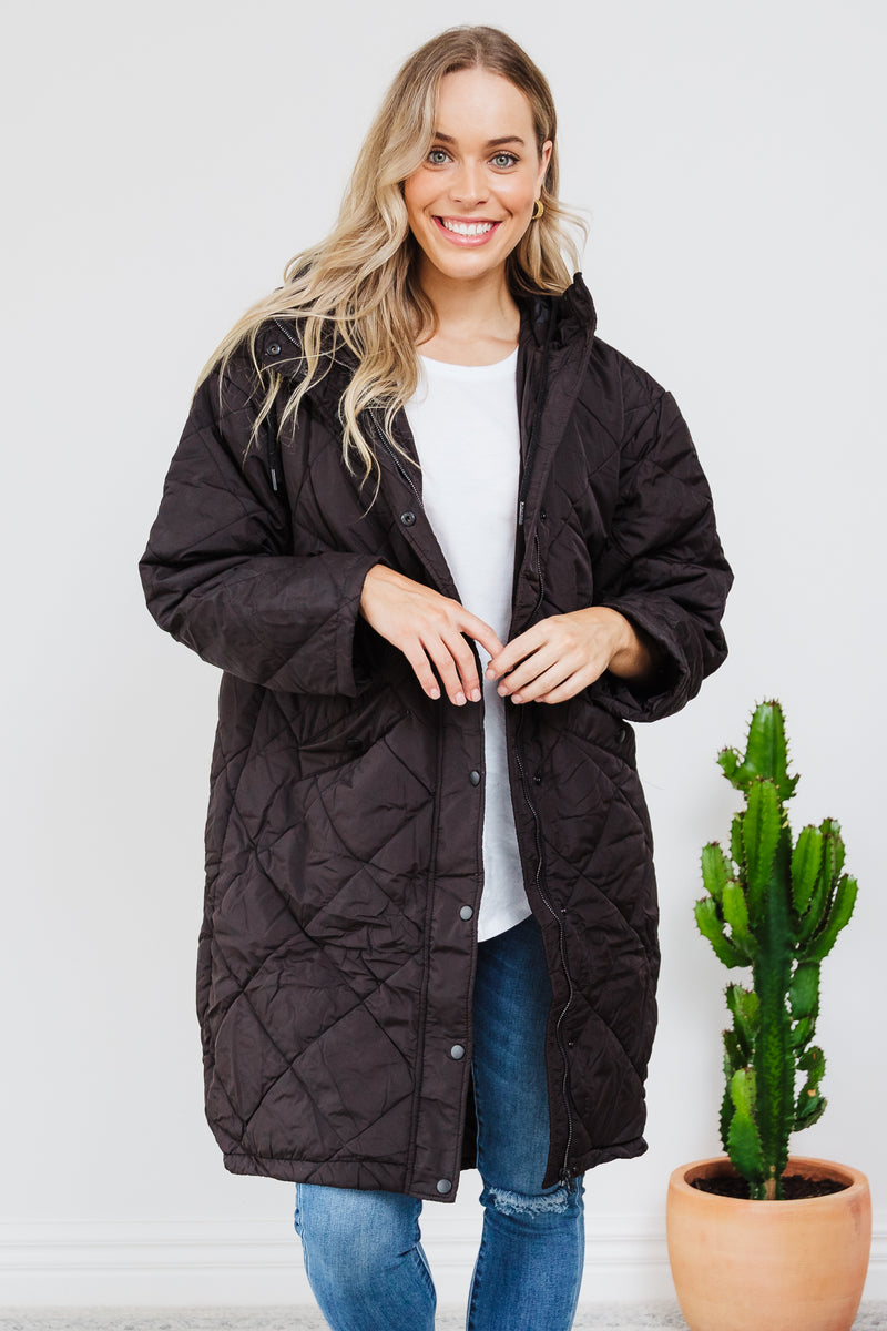 Madison Puffer Jacket - Black || By SASS {Online Exclusive}