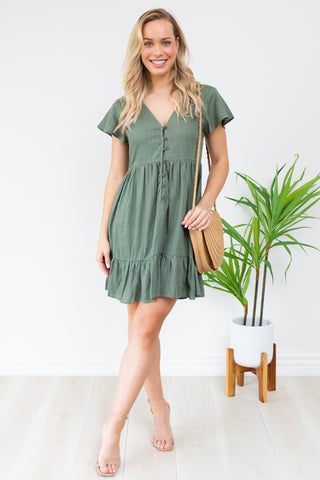 Mailee Dress - Khaki