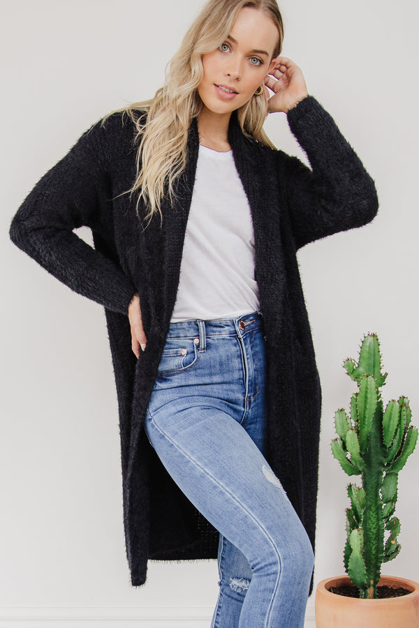 Mia Cardigan - Black || By Betty Basics {Online Exclusive}