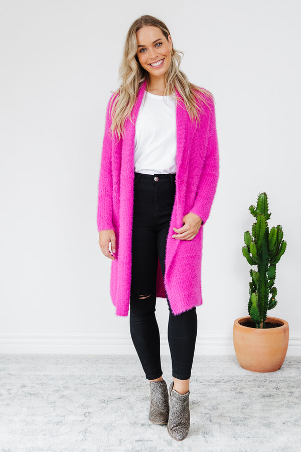 Mia Cardigan - Fuchsia || By Betty Basics {Online Exclusive}