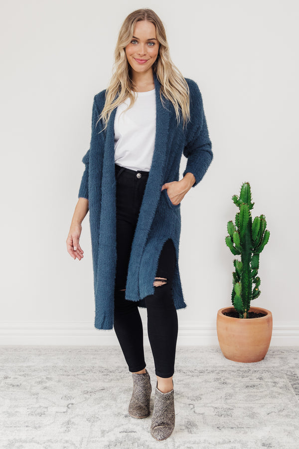 Mia Cardigan - TURQUOISE || By Betty Basics {Online Exclusive}
