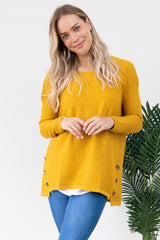 Button Knit - Mustard