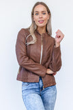 Ryder Biker Jacket - Walnut