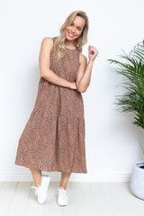 Selena Dress - Brown