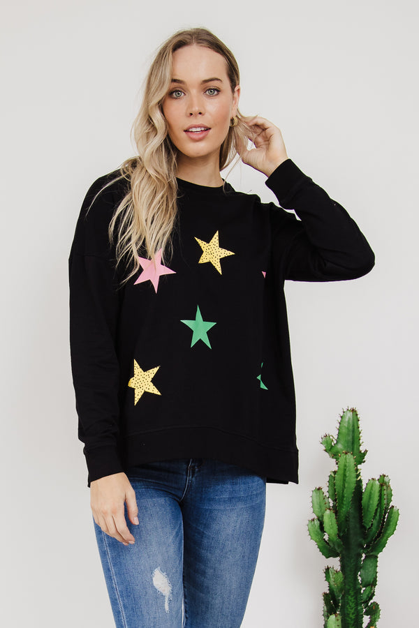Sienna Stars Sweat || By Betty Basics {Online Exclusive}