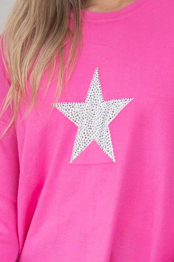 Sophie Knit Jumper - Star Pink  || BY BETTY BASICS {Online Exclusive}