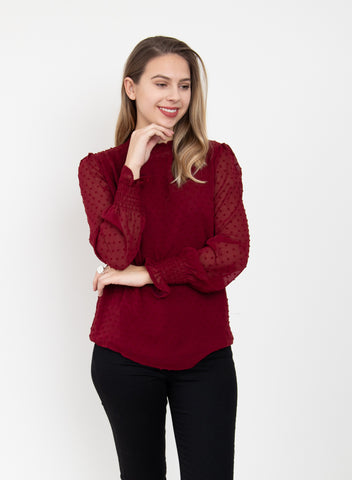 Storie Blouse - Wine