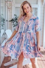 Skylar Babydoll Dress - Tie Dye