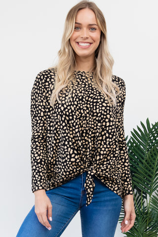 Willow Knot Top - Black / Beige Sahara
