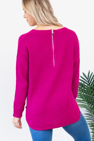 Famous Zip Back Knit - Pink