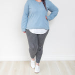 Bondi Pants by 3rdStory - Stripe CURVE