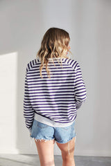 ST Tropez Sweater - Navy Stripe  By JÖVIE  The Label