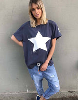 Star Tee - Navy/White - By Hammill + Co